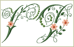 Victorian Flowers Font