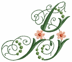 Victorian Flowers Font - Letter B