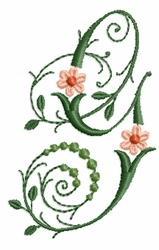 Victorian Flowers Font - Letter G