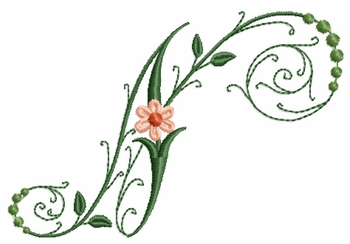 Victorian Flowers Font - Letter N