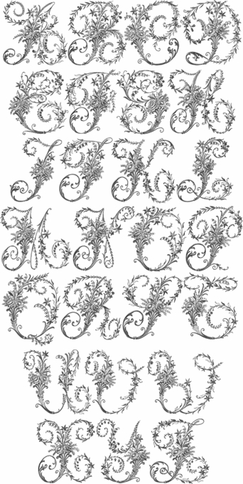 Victorian Whitework Font 5x7