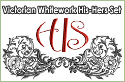 Victorian Whitework His-Hers Set