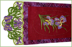 Wallhanging with Iris Laces