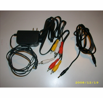Durabrand - Dual Screen Portable DVD Player cable and adaptor