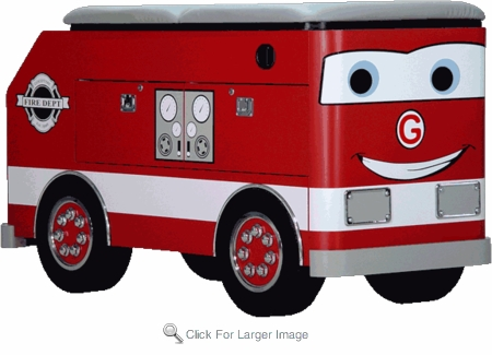 Fire Engine Toddler Changing Table