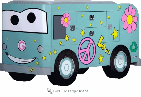 Lucy Love Bus Toddler Changing Table