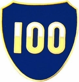 100th Infantry Division Pin