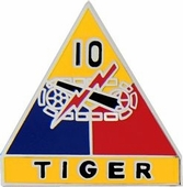 10th Armored Division Pin