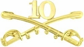 10th Cavalry Crossed Sabers Pin