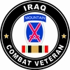 10th Mountain Division Iraqi Freedom Combat Veteran Decal
