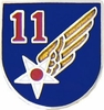 11th Air Force Pin