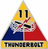 11th Armored Division Pin