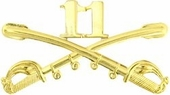 11th Cavalry Crossed Sabers Pin