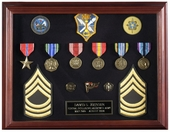 """12"""" x 16"""" Cherry Shadowbox Medal Display Frame - OUT OF STOCK"""