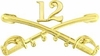 12th Cavalry Crossed Sabers Pin