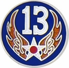 13th Air Force Pin