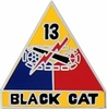 13th Armored Division Pin
