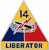 14th Armored Division Pin