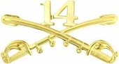14th Cavalry Crossed Sabers Pin