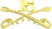 15th Cavalry Crossed Sabers Pin