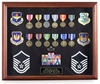"16"" x 20"" Cherry Shadowbox Medal Display Frame"