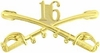 16th Cavalry Crossed Sabers Pin