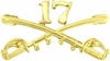 17th Cavalry Crossed Sabers Pin