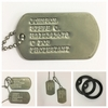 1965 to Current Military Dog Tags - no notch