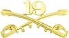 19th Cavalry Crossed Sabers Pin