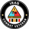 1st Armored Division  Iraqi Freedom Combat Veteran Decal