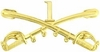 1st Cavalry Crossed Sabers Pin