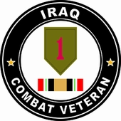 1st Infantry Division Iraqi Freedom Combat Veteran Decal