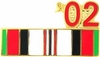 2002 Afghanistan War Campaign Ribbon Pin