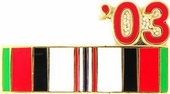 2003 Afghanistan War Campaign Ribbon Pin