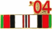 2004 Afghanistan War Campaign Ribbon Pin