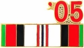 2005 Afghanistan War Campaign Ribbon Pin