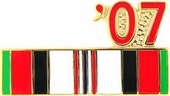 2007 Afghanistan Campaign War Ribbon Pin