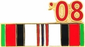 2008 Afghanistan War Campaign Ribbon Pin
