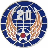 20th Air Force Pin