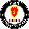 25th Infantry Division Iraqi Freedom Combat  Veteran Decal
