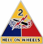 2nd Armored Division Pin