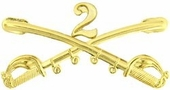 2nd Cavalry Crossed Sabers Pin