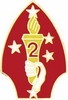 2nd Marine Division Pin