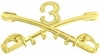 3rd Cavalry Crossed Sabers Pin