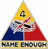 4th Armored Division Pin