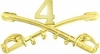 4th Cavalry Crossed Sabers Pin
