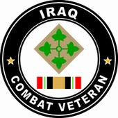 4th Infantry Division Iraqi Freedom Combat Veteran Decal