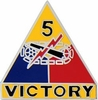 5th Armored Division Pin