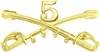 5th Cavalry Crossed Sabers Pin