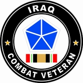 5th Corps Operation Iraqi Freedom Combat Veteran Decal